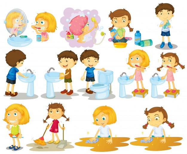 girls-and-boys-doing-chores-illustration_1308-2396